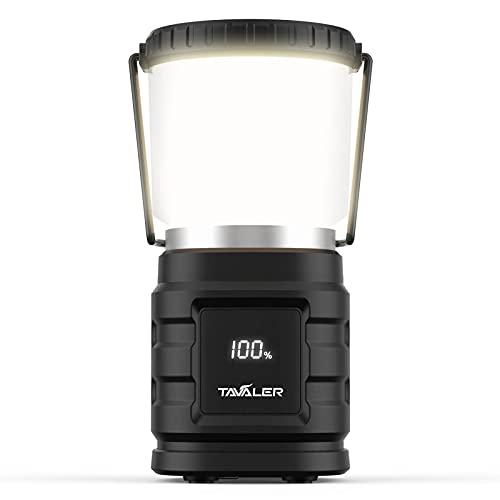 Tavaler Camping Laterne 8000 mAh Akku USB C Aufladbar Campinglampe mit LED Batterieanzeige Bildschirm Camping Licht IP65 Wasserdicht...
