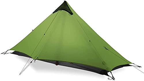 Ankon Kompakte Kuppelzelt Zelte für Campingzelt 1 Person Outdoor Ultralight Camping Zelt 3 Saison Rodless Zelt Camping Zelt (Color : Green,...