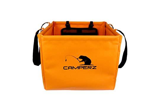 CAMPERZ Faltschüssel für Angelssport aus langlebigem umweltfreundlichen Planen Gewebe - Platzsparende Spülschüssel zum Angeln 20 Liter