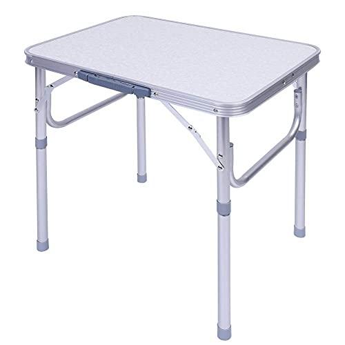 60 L x45 B x58 H cm Campingtisch klappbar faltbar nur 2.3 Kg. Aluminium Höhenverstellbar Balkontisch Klapptisch Gartentisch Camping Tisch...