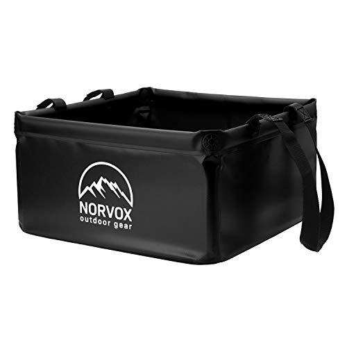NORVOX Outdoor Faltschüssel, Camping Falteimer - 15L oder 20L - Universell als Waschschüssel, Spülwanne, Spülschüssel, faltbarer Eimer...