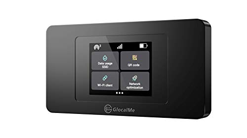 GlocalMe U3X mobiler WLAN Router, 4G LTE Router, Keine SIM-Karte erforderlich, Kein Vertrag, 3500mAh Akku, LCD Display Dual-Modem mobiler...