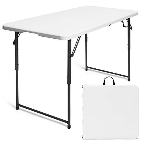 COSTWAY Campingtisch Klapptisch Falttisch Gartentisch Koffertisch Biertisch, Balkontisch mit Tragegriff, Flohmarkttisch belastbar bis 150kg,...
