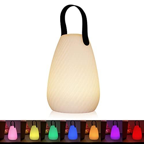 Akku Outdoor Lampe Tragbare Mehrfarbiges LED wiederaufladbare Tischleuchte Wasserdichtes kabelloses wiederaufladbares dimmbares Außen...
