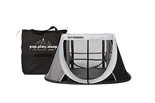 AeroMoov - Instant-Reisebett Baby - 2 Sekunden Aufbau - Superleicht und Kompakt - 2 Ebenen für Babys und Kleinkinder - Hochwertiger...
