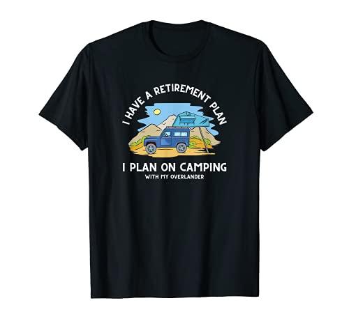 Rente Camping Dachzelt Auto lustiger Spruch T-Shirt