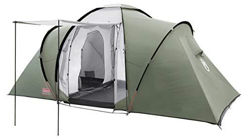 Coleman Zelt Ridgeline 4/6 Plus, 4/6 Mann Zelt, 4/6 Personen Vis-A-Vis Tunnelzelt, Campingzelt, Kuppelzelt mit Sonnendach, Wasserdicht WS...