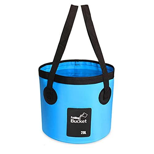 JIUYECAO Outdoor-Dusche, blau, tragbar, Camping-Dusche, 20 l, Eimer-Set, Autowäsche, Pflanzenbewässerung, elektrische Pumpe