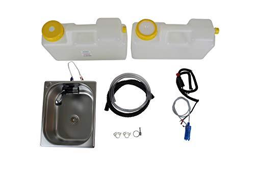 Wasseranlage Imbisswagen Verkaufsanhänger Campingküche 12v Bausatz Spüle 325x265x200 Integrierten Wasserhahn London Raumsparkanister...