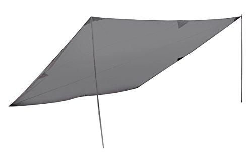 High Peak Sonnensegel Tarp 2, 400x400 cm, Sonnenschutz, Wetterschutz Tarp , Universal Camping Plane, leicht, variable Aufbaumöglichkeiten...