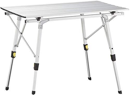 Nestling® Tragbarer Klappbarer Klapptisch, Aluminiumtisch Zum Klappen Für Camping Oder Garten Outdoor-Campingküche - Höhenverstellbar...