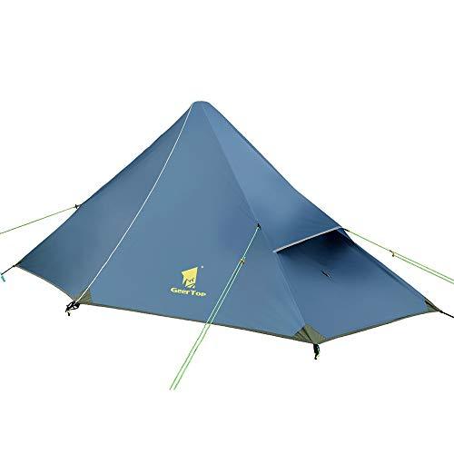 GEERTOP Kuppelzelt Rucksack Zelt Minipack 20D Ultralight - (1200g) -1 Personen 3 Saison für Camping Wandern Klettern (Zeltstangen Nicht...