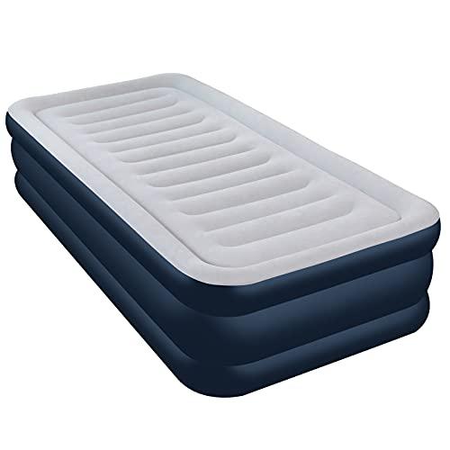 Aufblasbare Matratze, Luftbett mit eingebauter elektrischer Pumpe, integrierte erhöhte aufblasbare Matratze für Übernachtungsgäste,...
