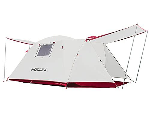 Zelt 4 Personen, HODLEX Wasserdicht Familienzelt Zelt Für Wandern Reisen Strand, Doppelwandig Kuppelzelt 2 Personen Zelt Mit Vorraum,...