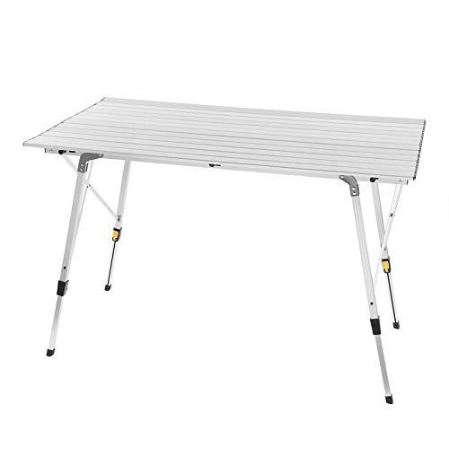 WOLTU CPT8132sb Alu Campingtisch klappbar Falttisch mit Tragetasche, Aluminium Campingtisch Reisetisch für 4-6 Personen 120 * 68.5cm,...