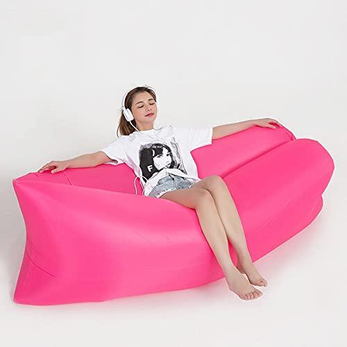 dfgdfg Aufblasbares Sofa, Gartenmöbel Schnelles Aufblasbares Faules Schlafendes Camping-Tasche Im Freien Aufblasbares Sofa-Luftbett, Fit...