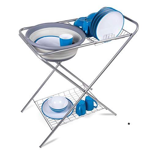 Waschstand Waschtisch Waschbecken Waschschüssel Küchenschrank Klapptisch Campingküche Outdoor Spüle Spülschüssel Spülwanne Spültisch...