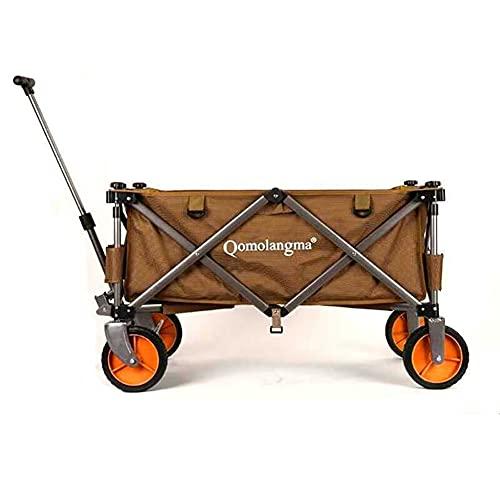 SXZSB Faltbarer Bollerwagen Faltbar Strandgartenwagenwagen Beach Trolley Heavy Duty Collapsible Cart Mit großen Rädern. Für den...