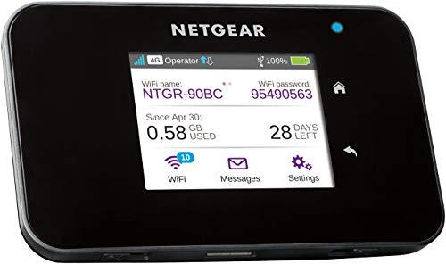 Netgear AC810 Mobiler WLAN Router / 4G LTE Router (AirCard mit bis zu 600 MBits/s Download-Geschwindigkeit, Hotspot für bis zu 15 Geräte,...