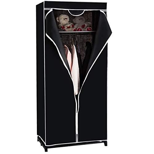 COSTWAY Kleiderschrank Stoffschrank, Faltschrank Textilschrank Campingschrank Stoffkleiderschrank Faltkleiderschrank, mit Kleiderstange,...