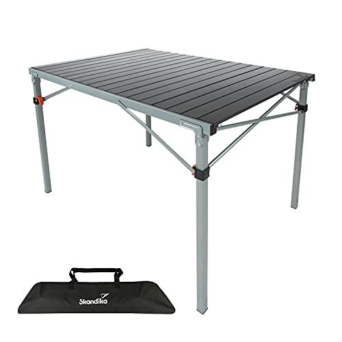 Skandika Aluminium Klapptisch Maikku | Alu Campingtisch für 6 Personen, 80 kg Traglast, 107 x 70 x 70 cm, wasserfest, klappbar, leicht,...