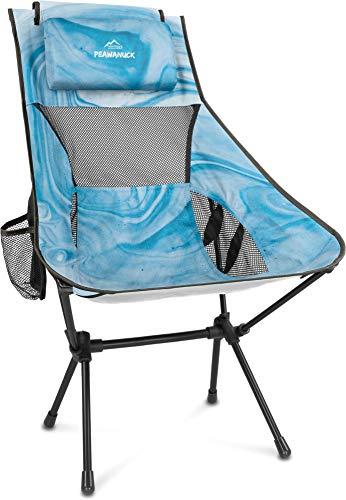 normani Outdoor Sports Ultraleicht Tragbar Klappbar Campingstuhl Klappstuhl Faltbar Outdoor-Stuhl mit Tragetasche Angelstuhl Strandstuhl aus...