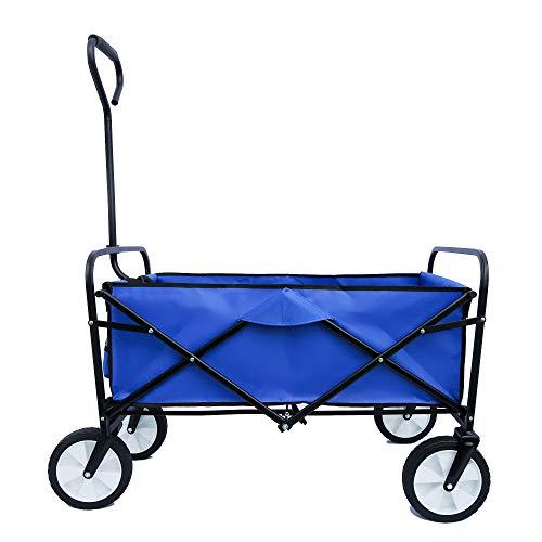Faltbarer Bollerwagen, tragbarer Strandwagen Außenwagen Faltwagen,Trolley Outdoor Folding Wagon Gartenanhänger Transportwagen für Alle...