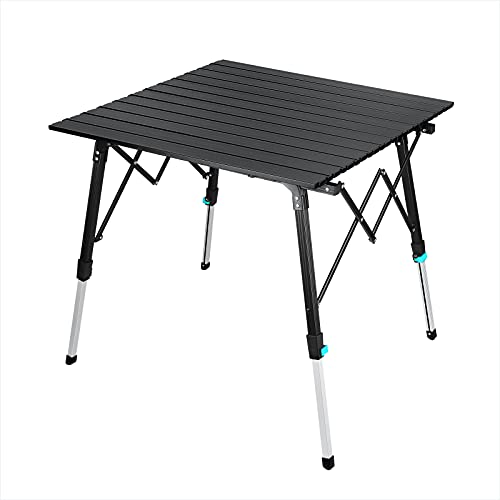 Synlyn Tragbar Klapptisch, Aluminium Campingtisch mit Tasche, Gartentisch höhenverstellbar, Balkontisch Reisetisch für Camping Picknick...