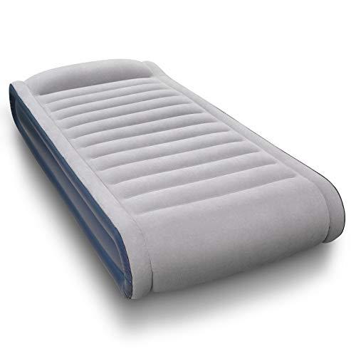 Aufblasbare Matratze, Luftbett mit eingebauter elektrischer Pumpe, Einem Aufbewahrungsbeutel und integriertes erhöhtes Kissen für Camping...