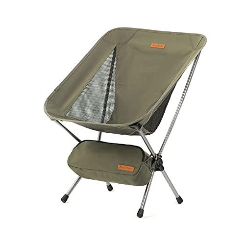 Naturehike Klappbarer Campingstuhl Faltbarer Strandstuhl Tragbarer Outdoor Stuhl für Zelten Picknick Wandern (Grün)