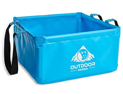 Outdoor Panda: Outdoor Faltschüssel 20 Liter   Faltbare Camping Waschschüssel aus langlebigem Planen Gewebe   Platzsparende und leichte...