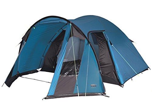 High Peak Kuppelzelt Tessin 4, Campingzelt mit Vorbau, 2 Eingänge, Familien-Zelt für 4 Personen, extra hoher Eingang, doppelwandig, 2.000...