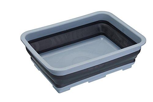 MasterClass Smart Space faltbare Spülschüssel/Spülbecken aus Kunststoff, 7 Liter, Plastik, Schwarz/Grau, 27 x 37 x 11.5 cm, 1 Einheit