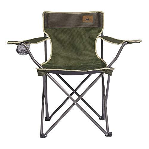 Campingstuhl / Faltstuhl Herbstgrün (Größe M) - mit Getränkehalter & Rückentasche