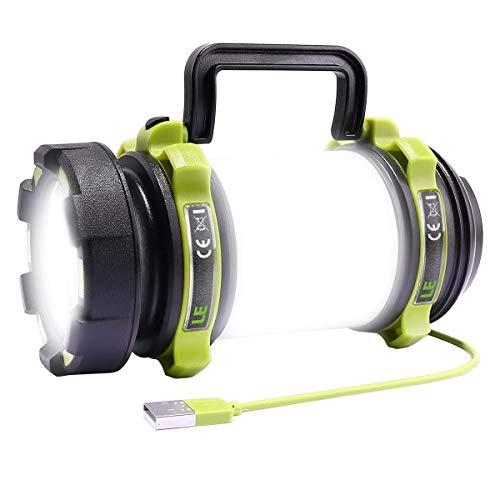LE LED Handscheinwerfer, wiederaufladbare Superhell 500lm CREE LED Handlampe mit 2600mah Powerbank, dimmbare Taschenlampe mit Warnlicht,...