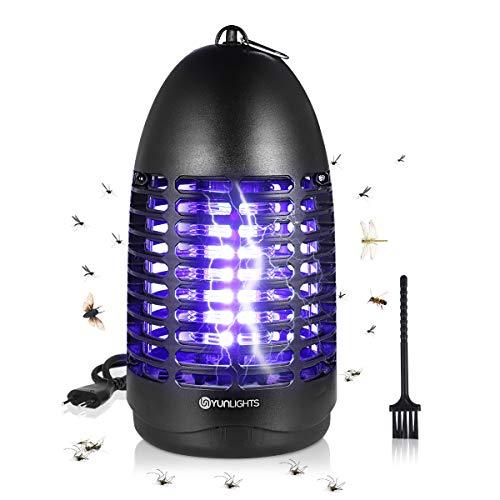 YUNLIGHTS Elektrischer Insektenvernichter Fliegenfalle Elektrisch Insekten-Mückenfalle 7W mit UV-Licht, Moskito Killer Mückenlampe Keine...