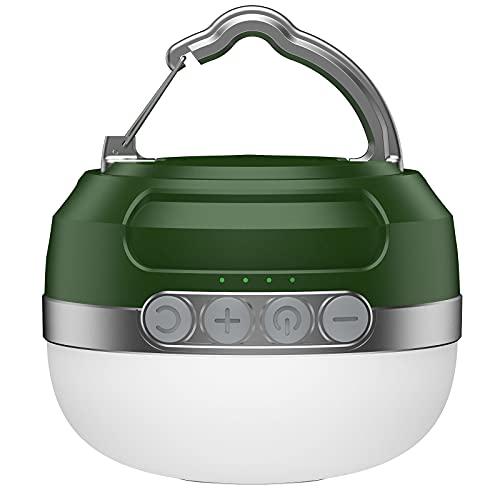 Camping Lampe mit RGB Farbwechsel, LED Camping Laterne mit 5200mAh USB Aufladbar, 6 Helligkeiten Leuchtmodi & Eingebauter Starker Magnet &...