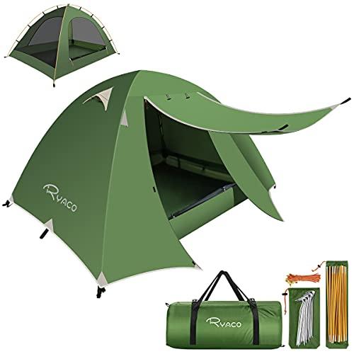 RYACO Zelt 2 und 3 Personen Ultraleichte Camping Zelte, Leichte Kuppelzelte für Erwachsene Camping, Rucksack und Outdoor Wanderausrüstung...