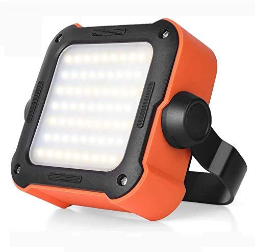 Led Strahler Akku, Arbeitsleuchte Led Akku Campinglampe mit 10000mAh Powerbank USB Wiederaufladbare Tragbar Outdoor Flutlicht, mit 15...