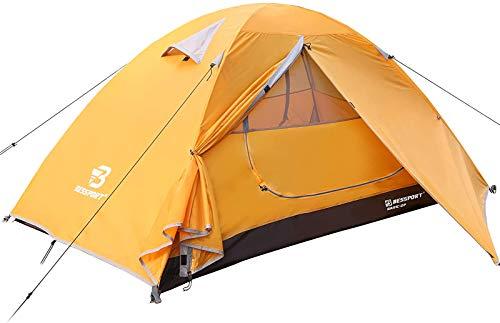 Bessport Zelt 2 Personen Ultraleichte Camping Zelte 3-4 Saison, Wasserdicht Zelt Kleines Packmaß, Sofortiges Aufstellen für Trekking,...