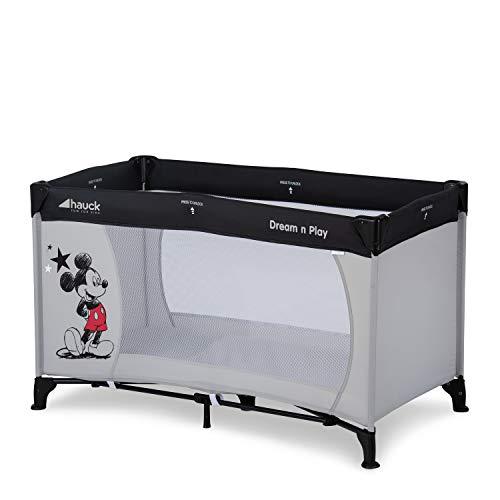 Hauck Disney Reisebett Dream N Play / für Babys und Kinder ab Geburt bis 15 kg / 120 x 60 cm / Leicht / Kompakt Faltbar / Inkl. Trage...
