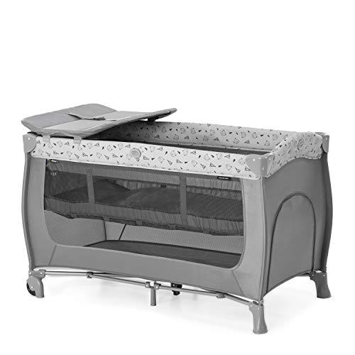 Hauck Kombi Reisebett Set Sleep N Play Center / für Babys und Kinder ab Geburt bis 15 kg / 120 x 60 cm / 2 Höhen / inkl. Wickelauflage /...