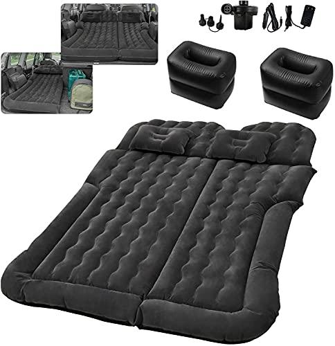 Auto SUV Luftmatratze für 2-3 Personen, Auto Matratze mit Pumpe, Aufblasbares Bett für den Auto-Rücksitz für die meisten suv Autos,...