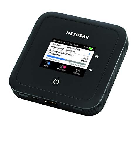 NETGEAR Nighthawk M5 Mobiler 5G Router mit SIM-Karte & WiFi 6 | WLAN Router 5G mobil | AX1800 WiFi 6 Speed | sicherer WLAN Hotspot bis 32...