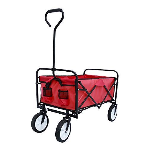 ICCDBCK Faltbarer bollerwagen Einkaufswagen Vollgummi-ReifenTransporter