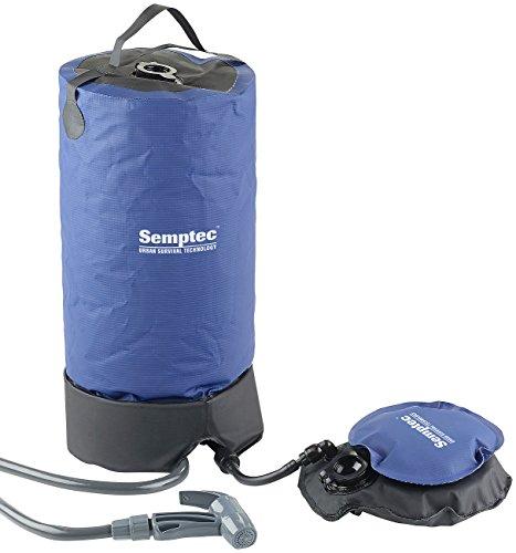 Semptec Urban Survival Technology Solardusche: Tragbare Druck-Campingdusche mit Fußpumpe, 11 Liter (Solardusche mit Pumpsystem)