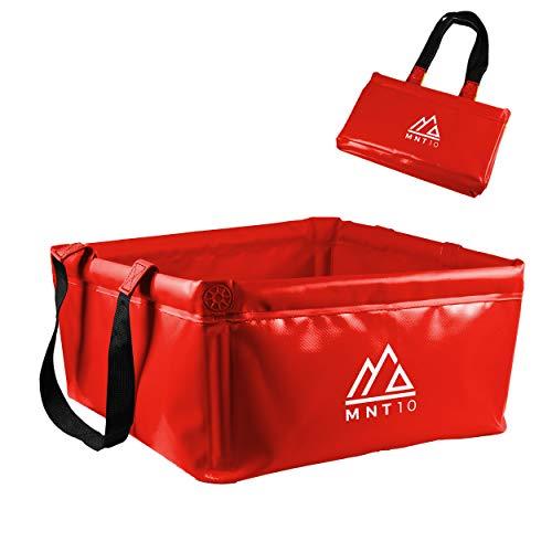 MNT10 Outdoor Faltschüssel in 15L oder 20L I Faltbare Camping Waschschüssel aus robustem Planen Gewebe I Als Camping Spülschüssel,...