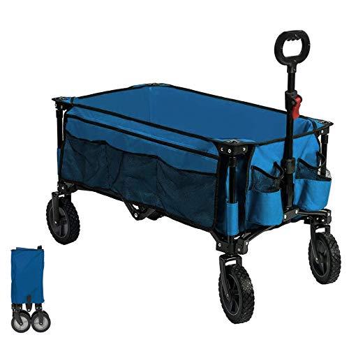 Timber Ridge Bollerwagen faltbar Handwagen Faltwagen Transportwagen Strandwagen Gartenwagen für alle Gelände mit Seitentasche...