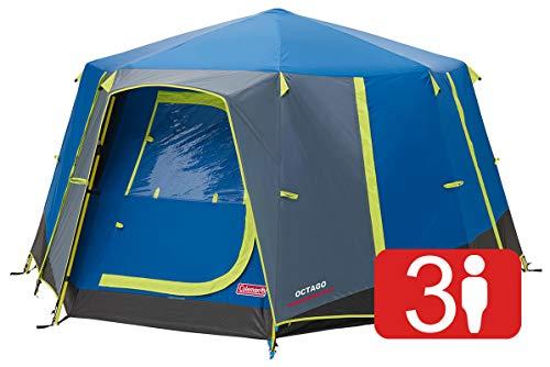 Coleman Zelt OctaGo, 3 Personen Festivalzelt, Kuppelzelt, wasserdichtes 3 Mann Campingzelt mit eingenähter Bodenplane