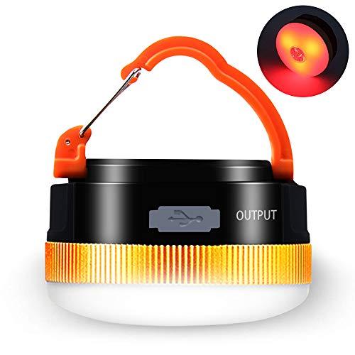 Karrong Campinglampe LED USB Wiederaufladbare, Mini Magnet Camping Laterne Campingleuchte, 4 Modi SOS Wasserdicht Tragbar Camping Lampe...
